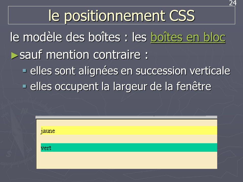le positionnement CSS le modèle des boîtes : les boîtes en bloc