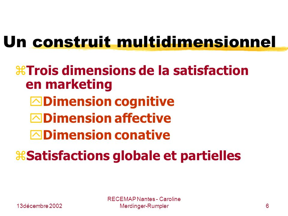 Un construit multidimensionnel