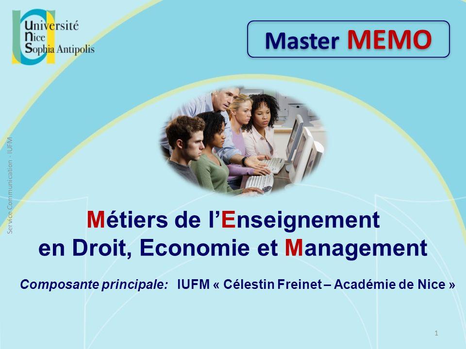 Métiers de l'Enseignement en Droit, Economie et Management