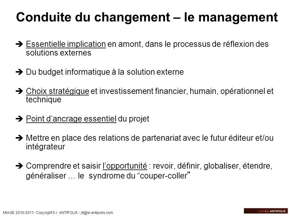 Conduite du changement – le management