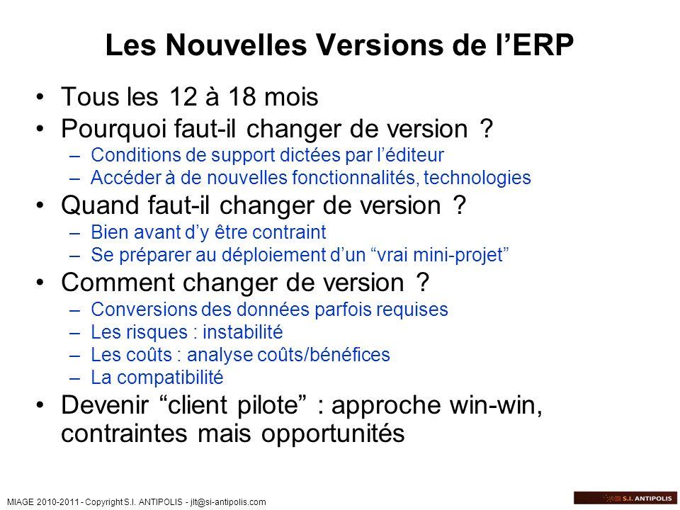 Les Nouvelles Versions de l'ERP