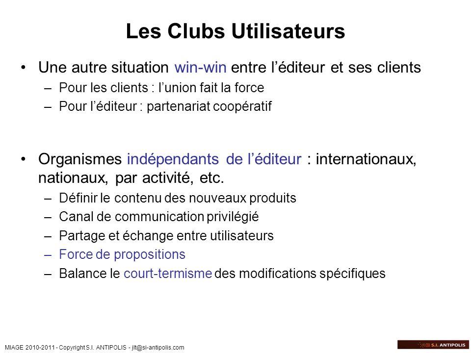 Les Clubs Utilisateurs