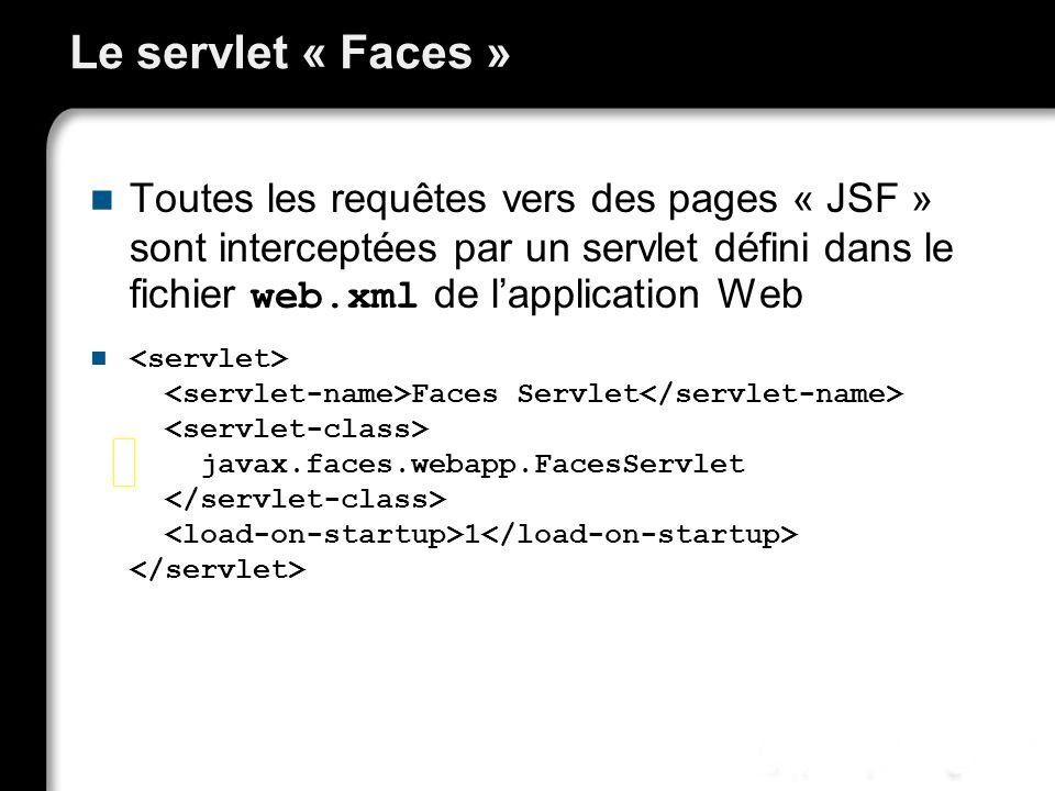 Le servlet « Faces »
