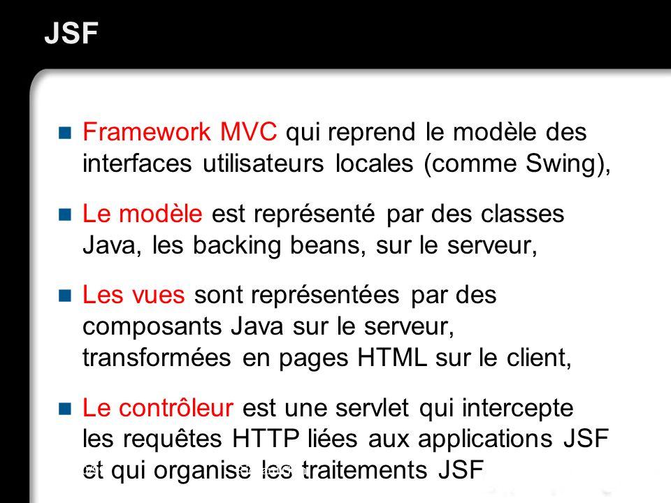 JSF Framework MVC qui reprend le modèle des interfaces utilisateurs locales (comme Swing),