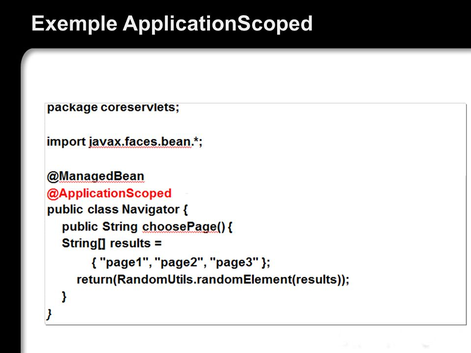 Exemple ApplicationScoped
