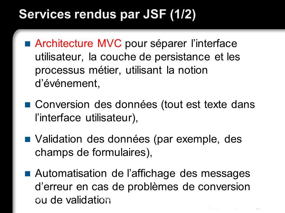 Services rendus par JSF (1/2)