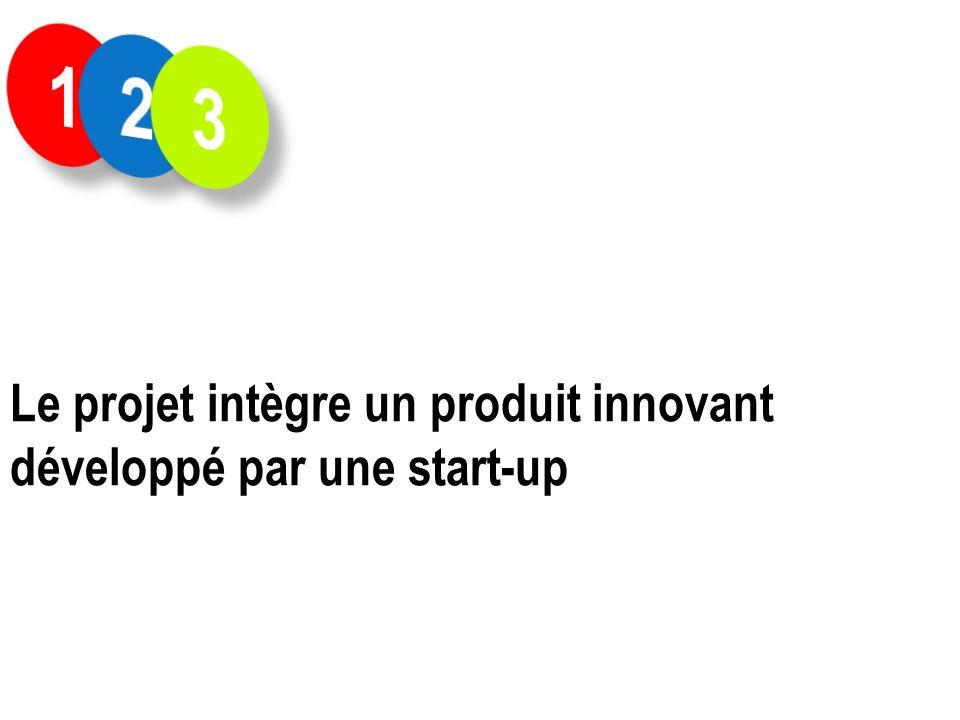 1 2 3 Le projet intègre un produit innovant développé par une start-up