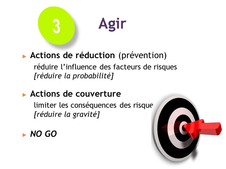 3 Agir Actions de réduction (prévention)