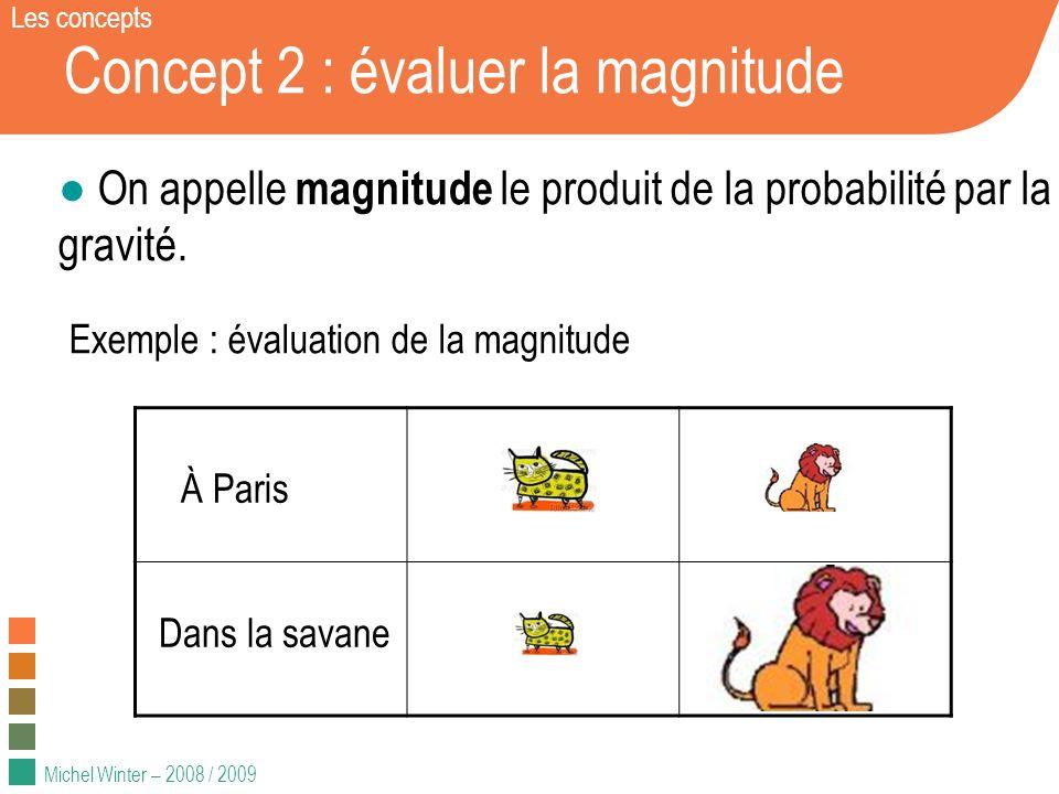 Concept 2 : évaluer la magnitude