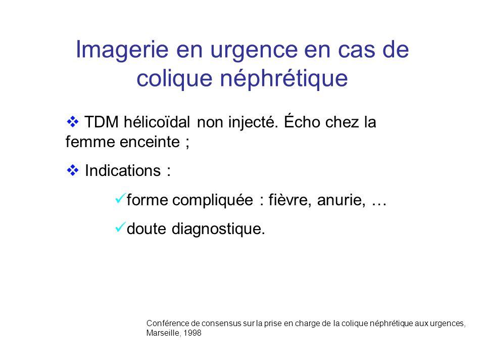 Imagerie en urgence en cas de colique néphrétique