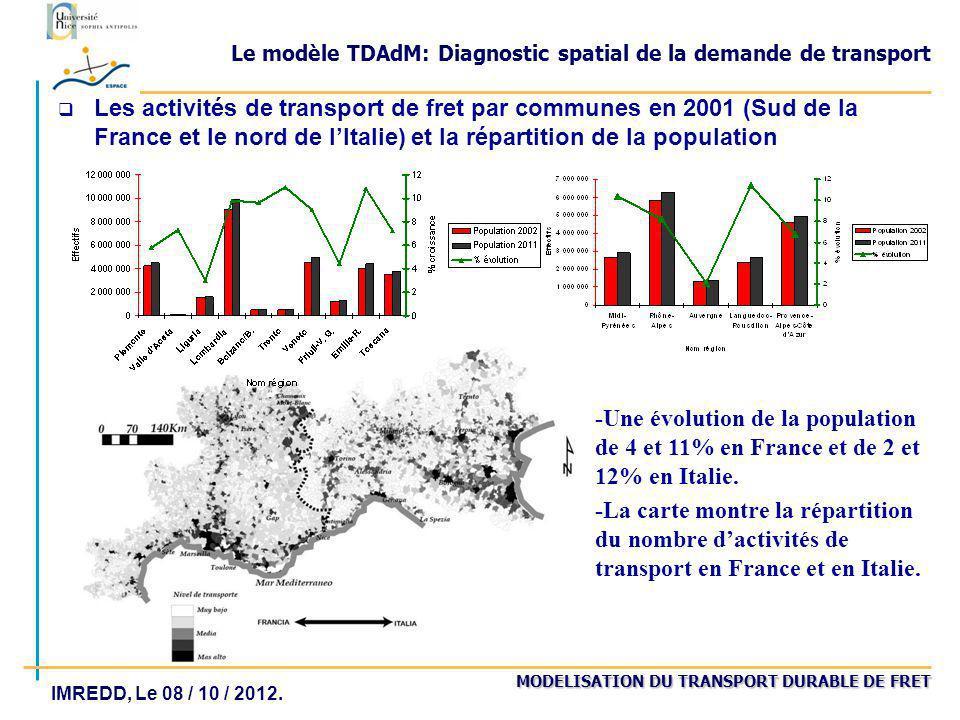 Le modèle TDAdM: Diagnostic spatial de la demande de transport