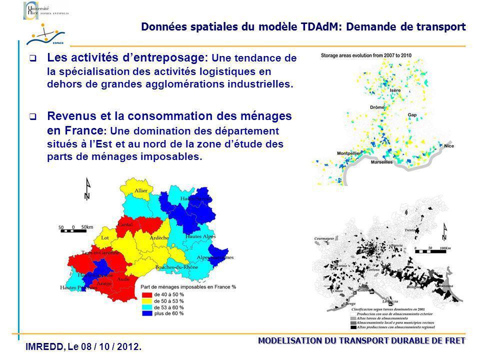 Données spatiales du modèle TDAdM: Demande de transport