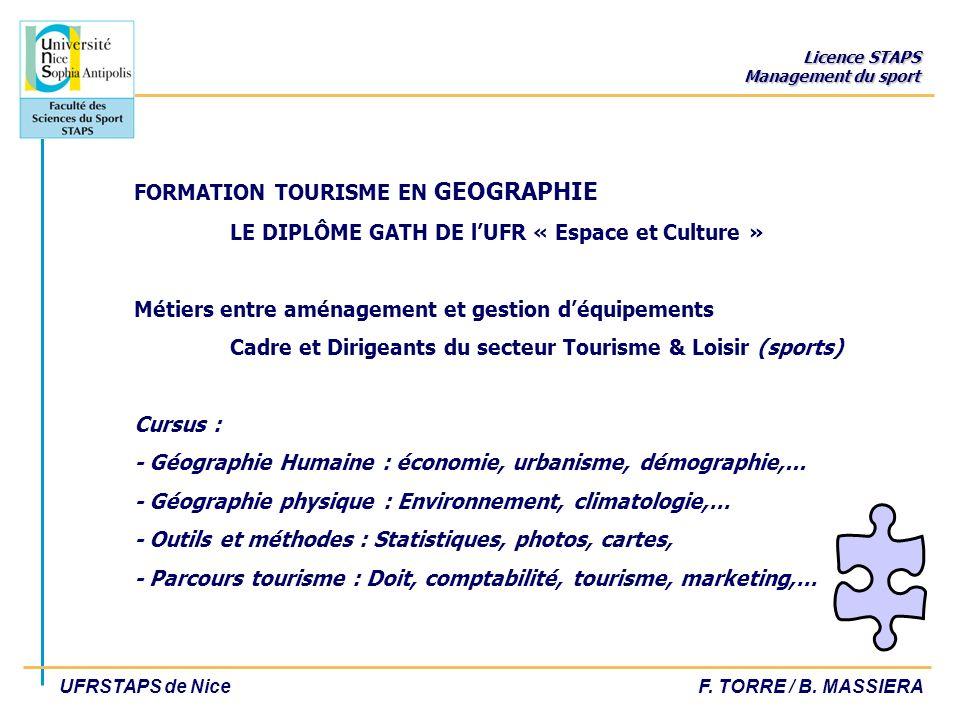 FORMATION TOURISME EN GEOGRAPHIE