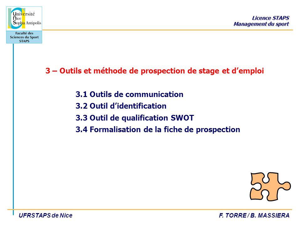 3 – Outils et méthode de prospection de stage et d'emploi. 3