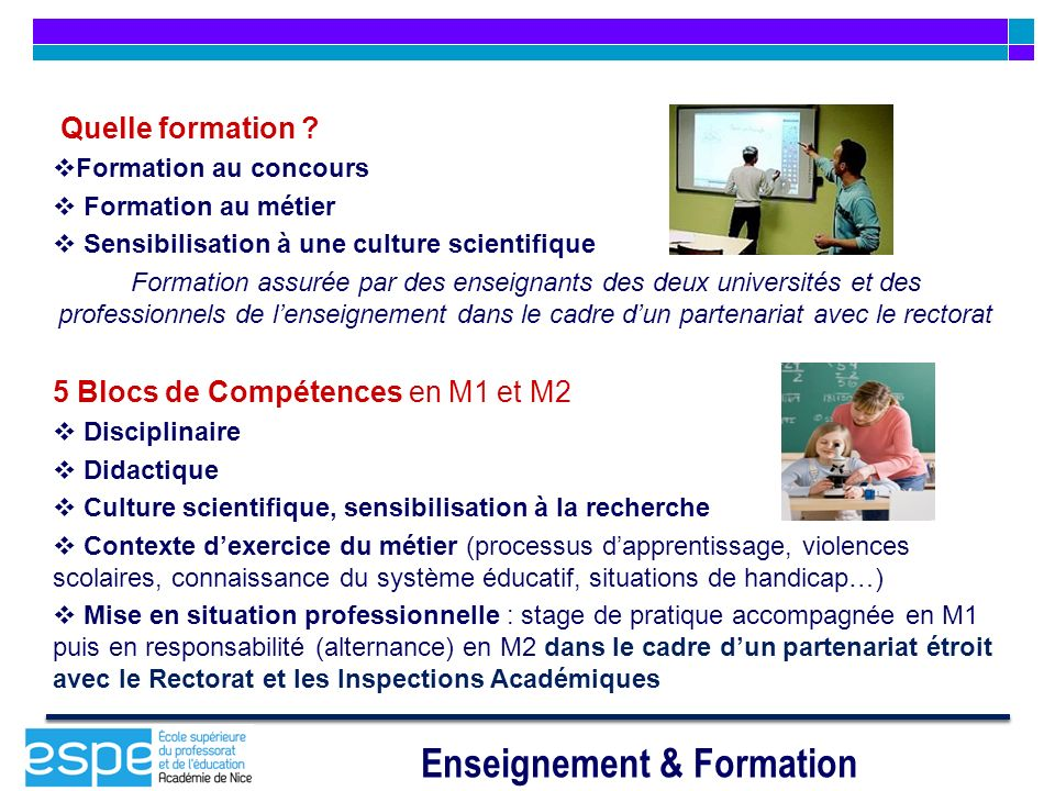 Enseignement & Formation