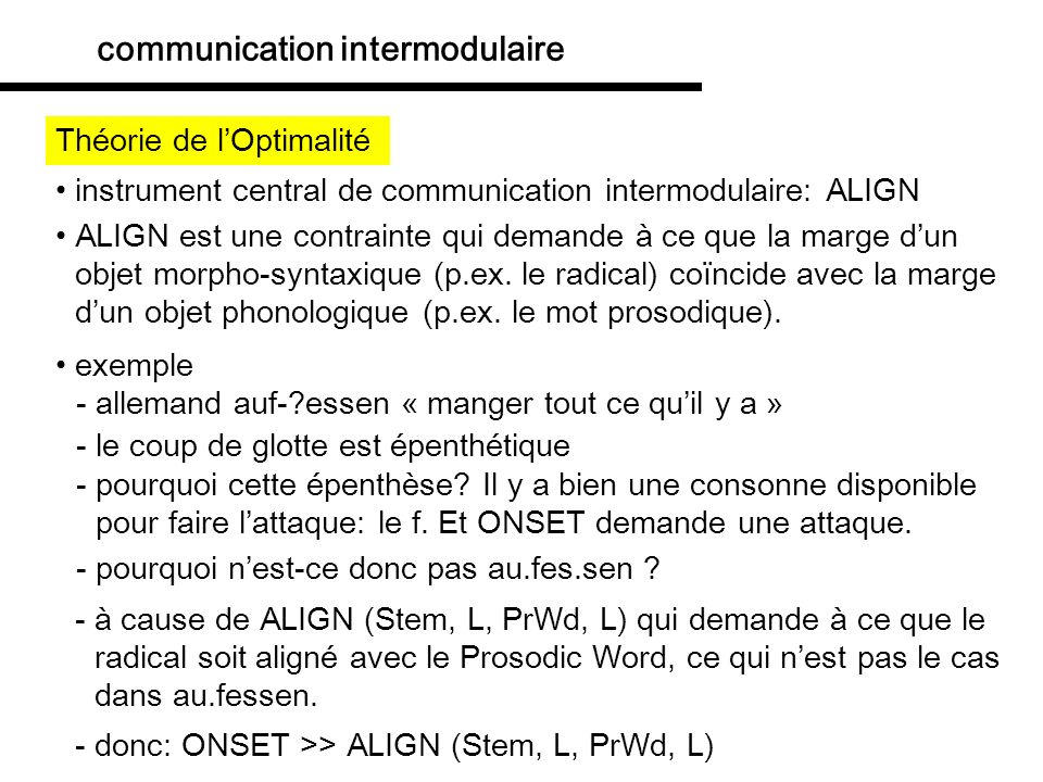 communication intermodulaire