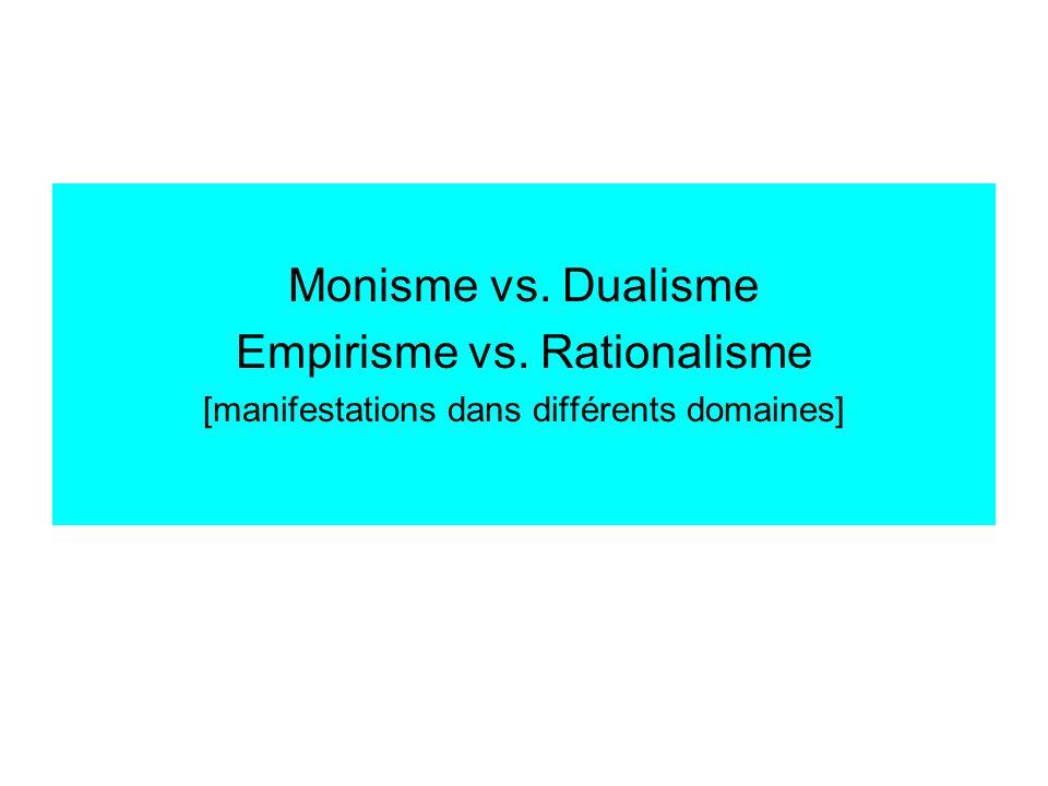 Empirisme vs. Rationalisme