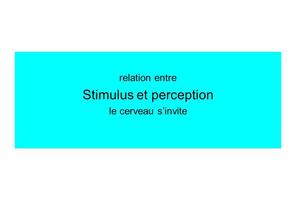 Stimulus et perception
