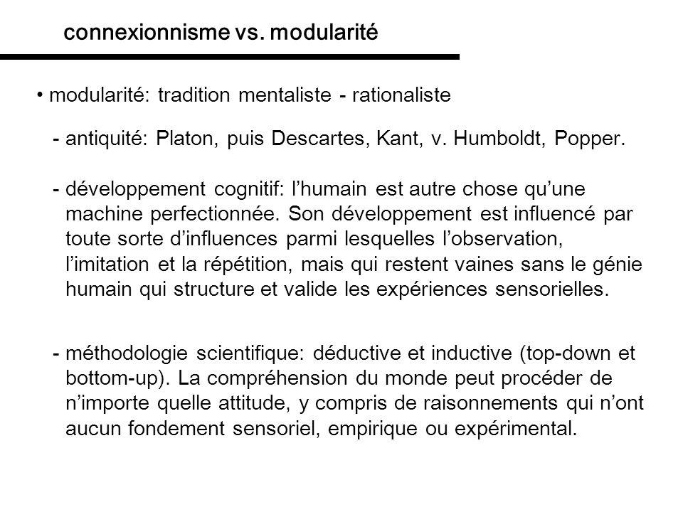 connexionnisme vs. modularité