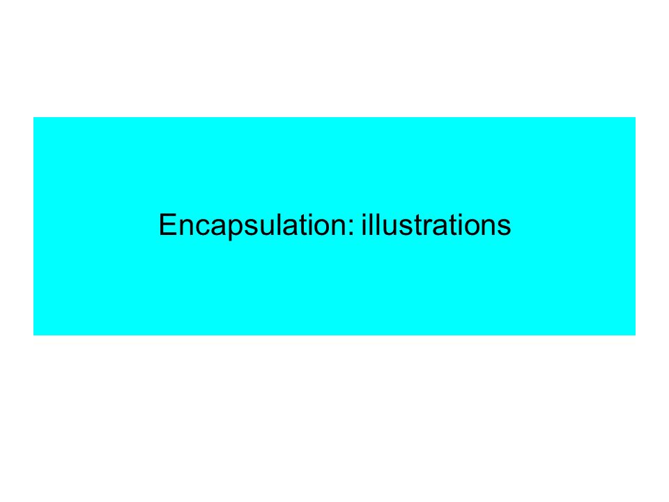 Encapsulation: illustrations