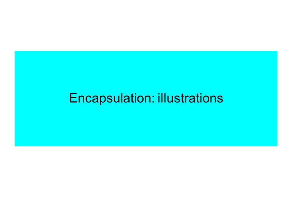Encapsulation: illustrations