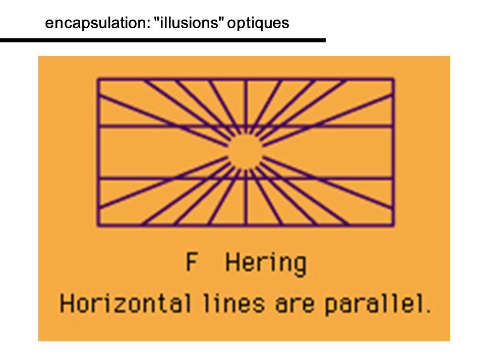 encapsulation: illusions optiques