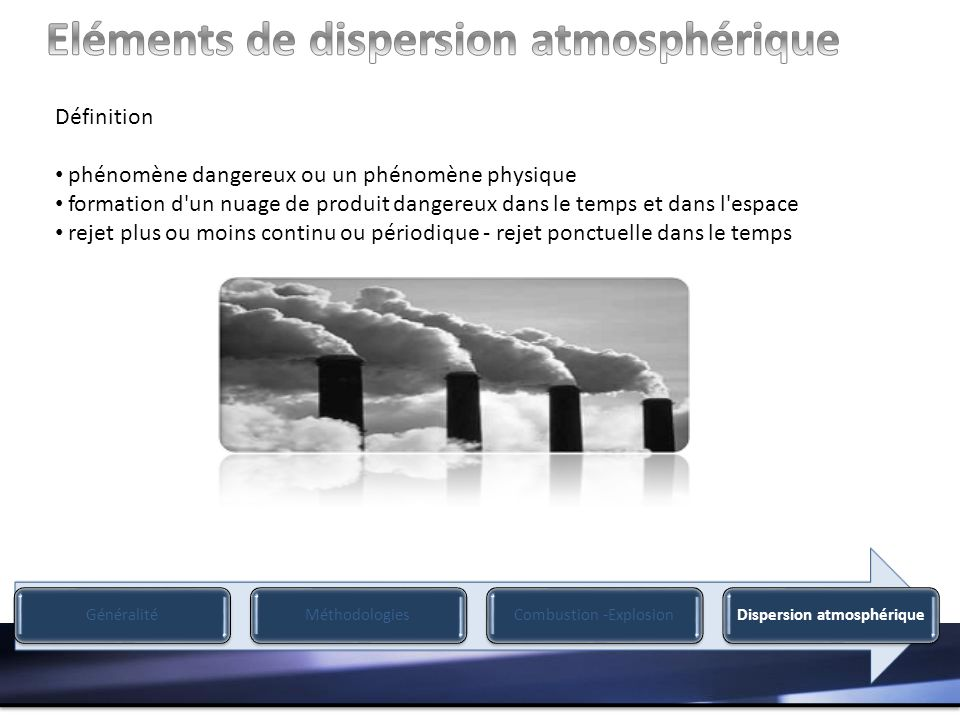 Eléments de dispersion atmosphérique