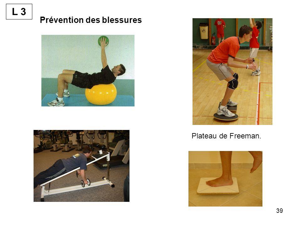 L 3 Prévention des blessures Plateau de Freeman.