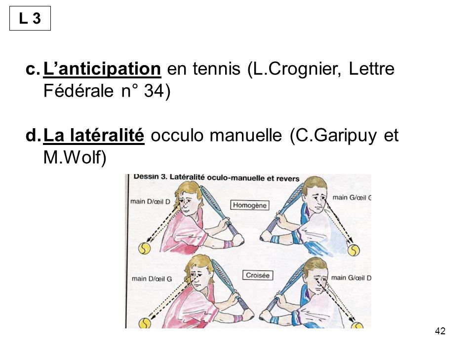L'anticipation en tennis (L.Crognier, Lettre Fédérale n° 34)
