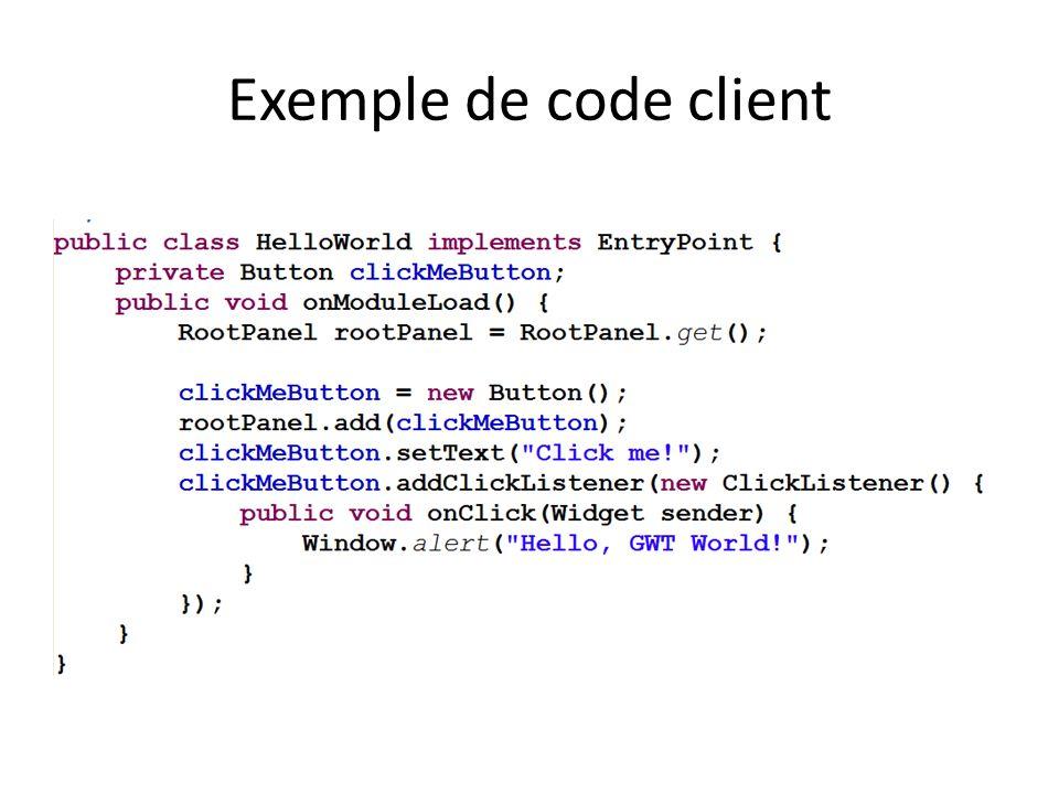 Exemple de code client