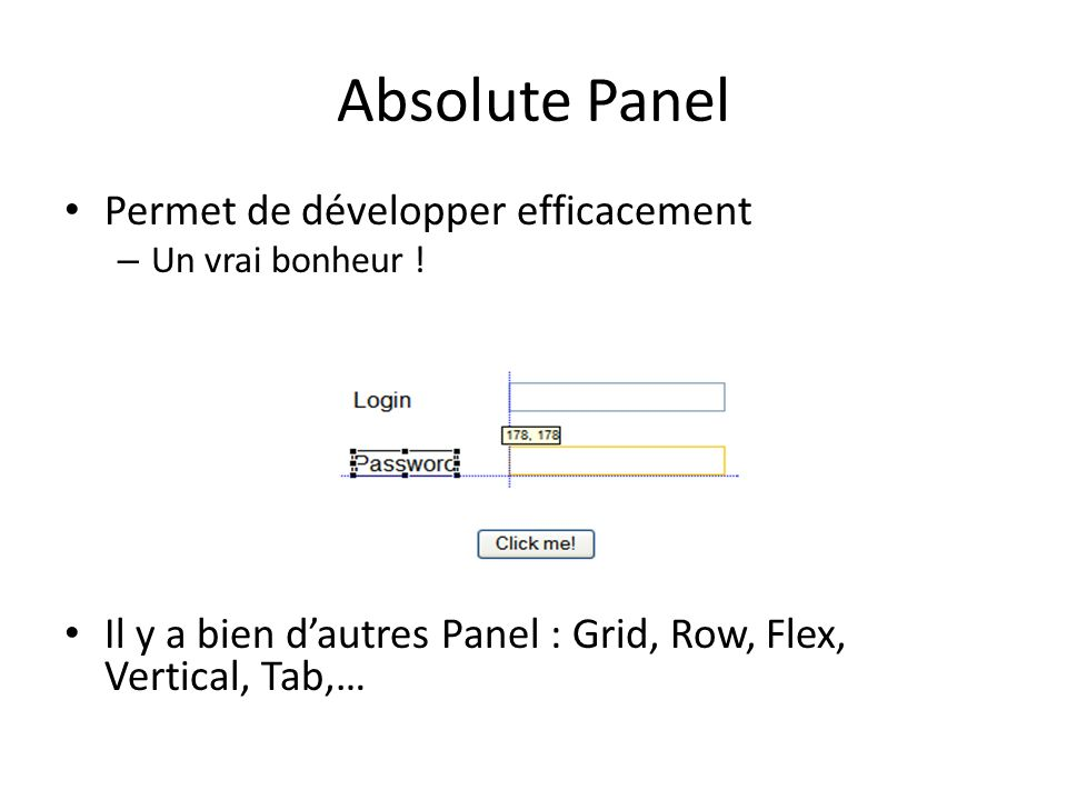 Absolute Panel Permet de développer efficacement