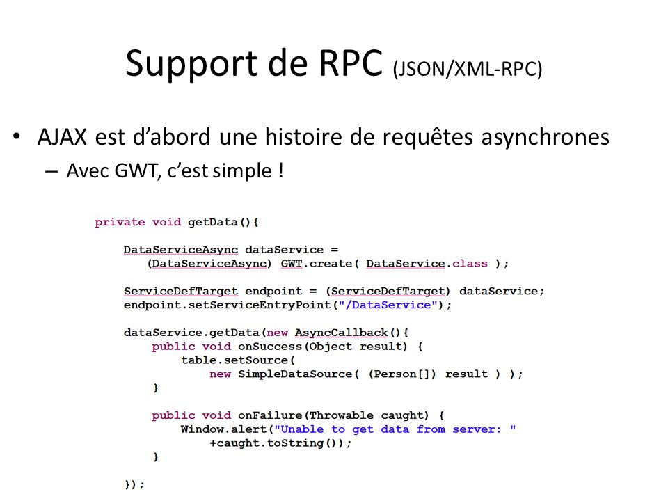 Support de RPC (JSON/XML-RPC)