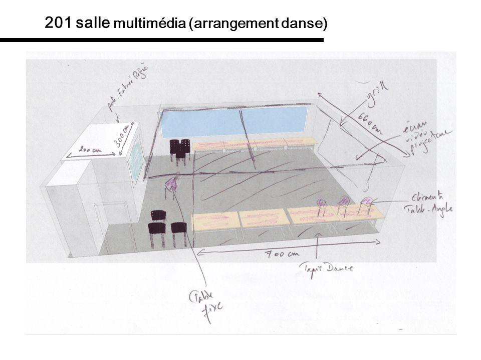 201 salle multimédia (arrangement danse)