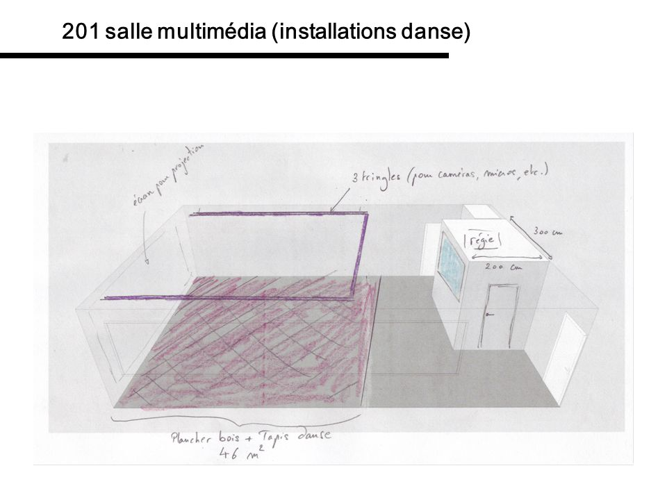 201 salle multimédia (installations danse)