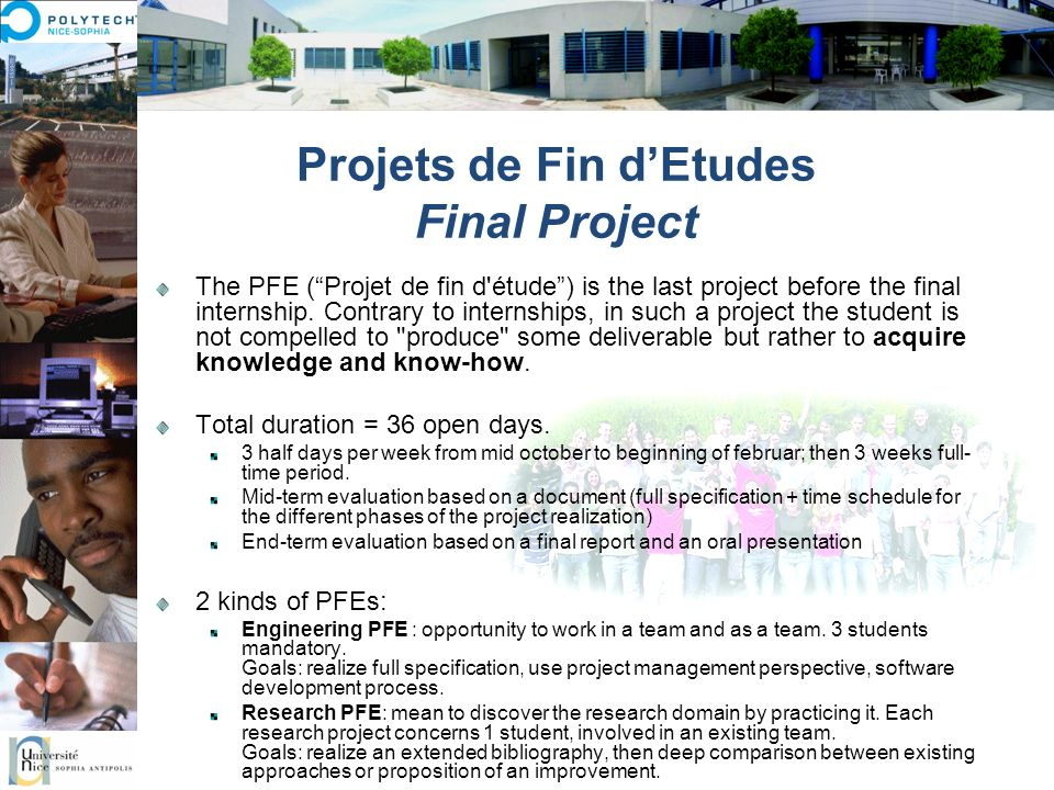 Projets de Fin d'Etudes Final Project