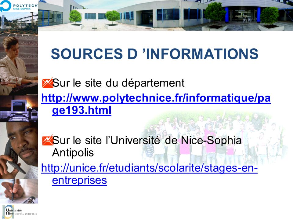 SOURCES D 'INFORMATIONS