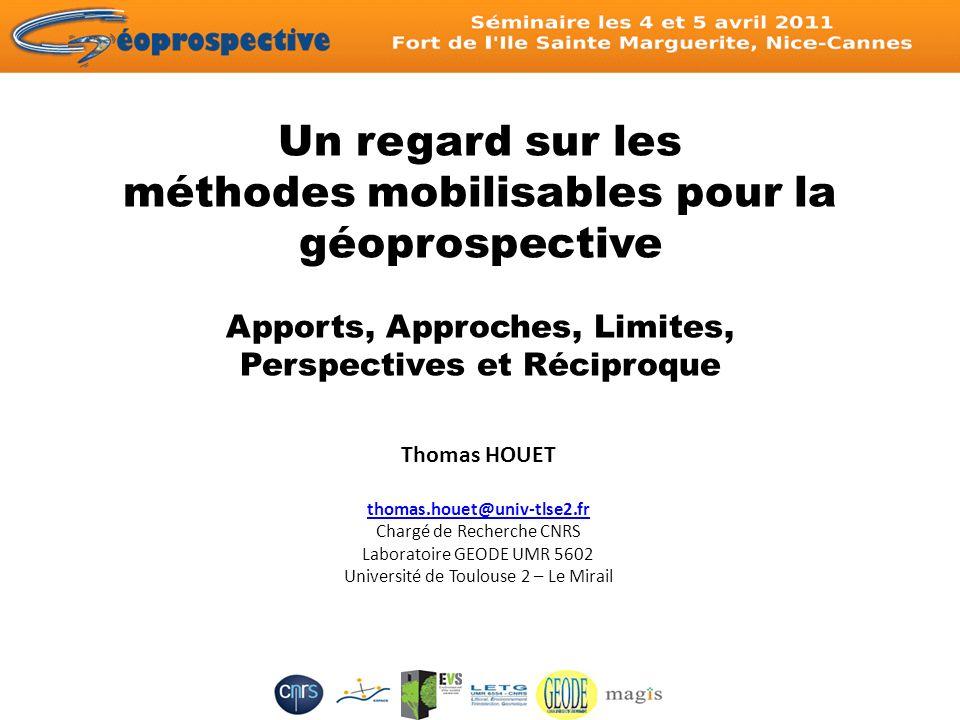Un regard sur les méthodes mobilisables pour la géoprospective