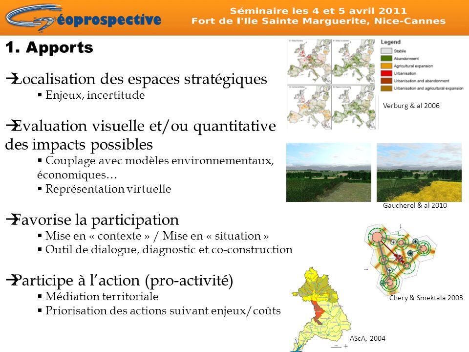 Localisation des espaces stratégiques