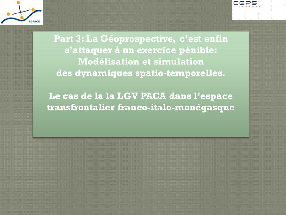 Modélisation et simulation des dynamiques spatio-temporelles.