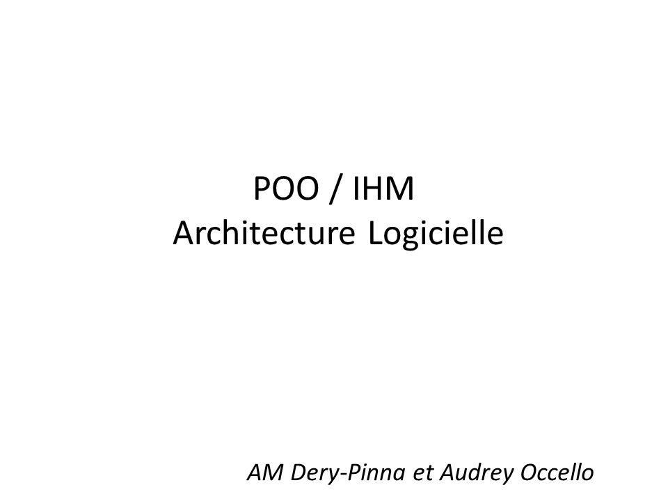 POO / IHM Architecture Logicielle