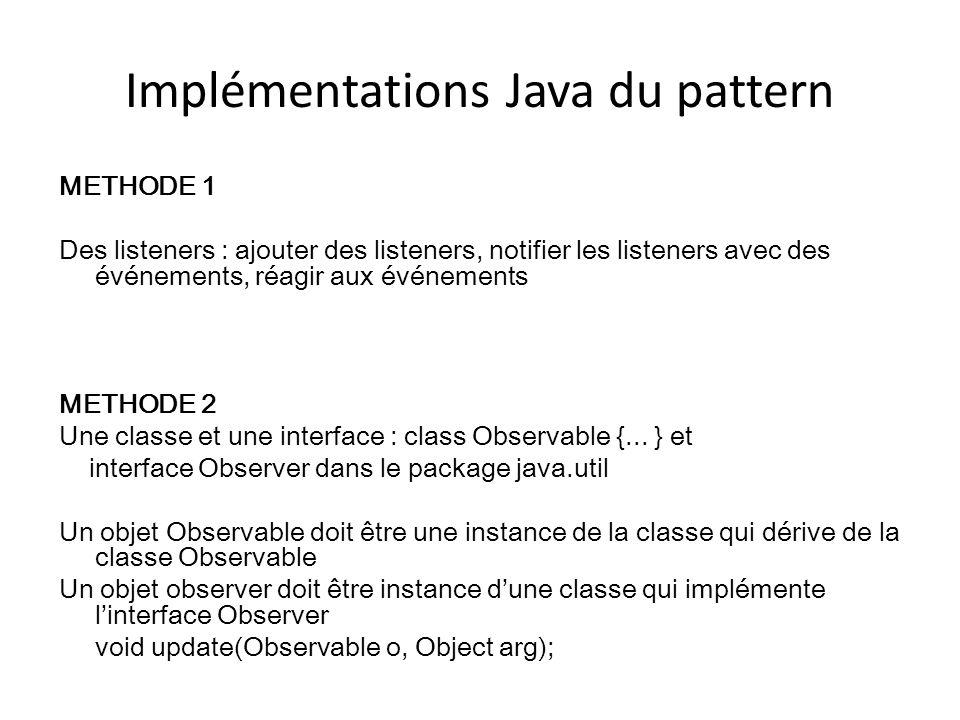 Implémentations Java du pattern
