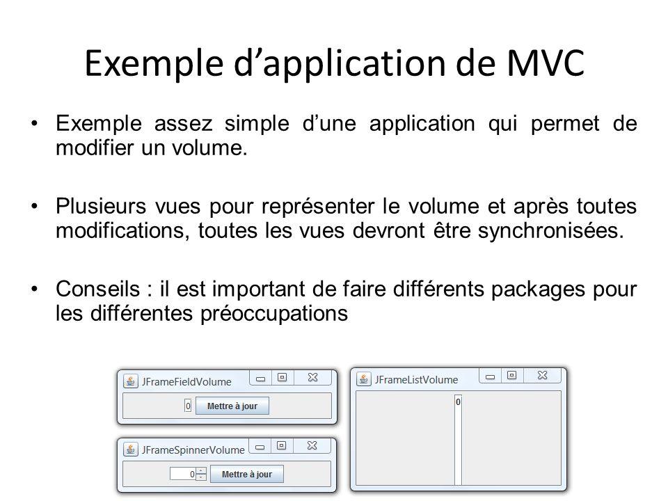 Exemple d'application de MVC