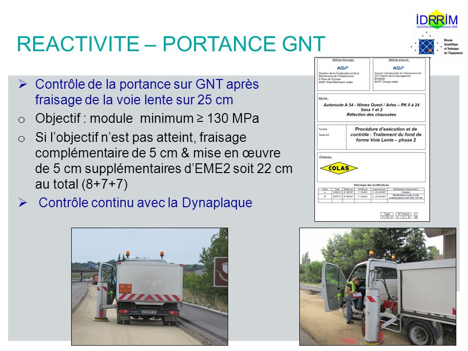 REACTIVITE – PORTANCE GNT