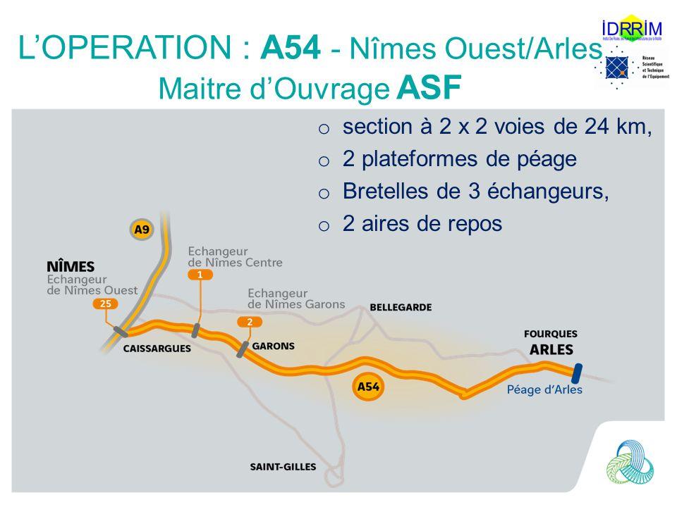 L'OPERATION : A54 - Nîmes Ouest/Arles Maitre d'Ouvrage ASF
