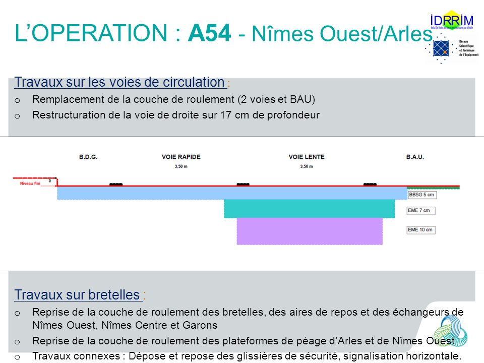 L'OPERATION : A54 - Nîmes Ouest/Arles