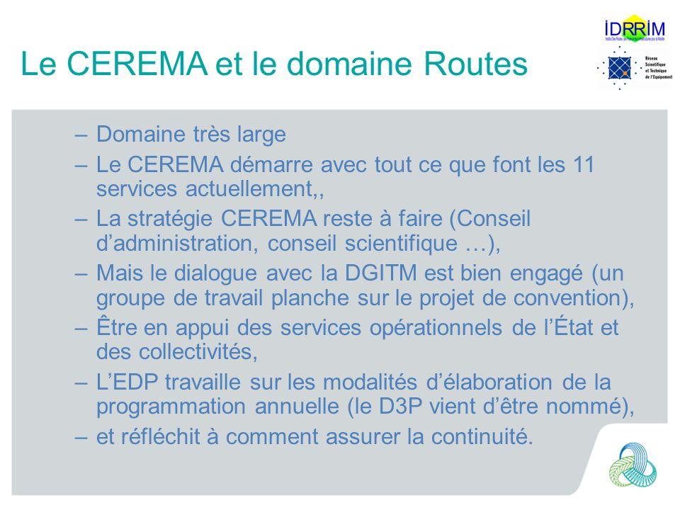 Le CEREMA et le domaine Routes