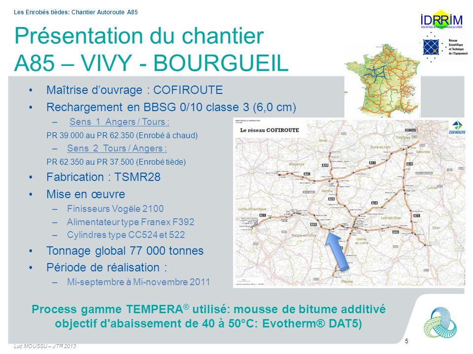 Présentation du chantier A85 – VIVY - BOURGUEIL