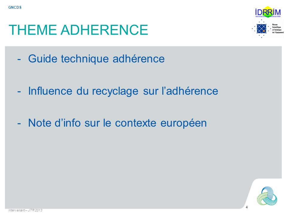 THEME ADHERENCE Guide technique adhérence