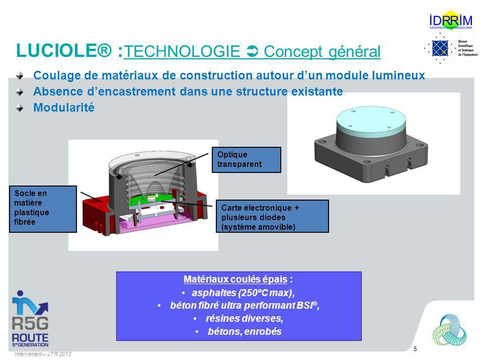 LUCIOLE® :TECHNOLOGIE  Concept général