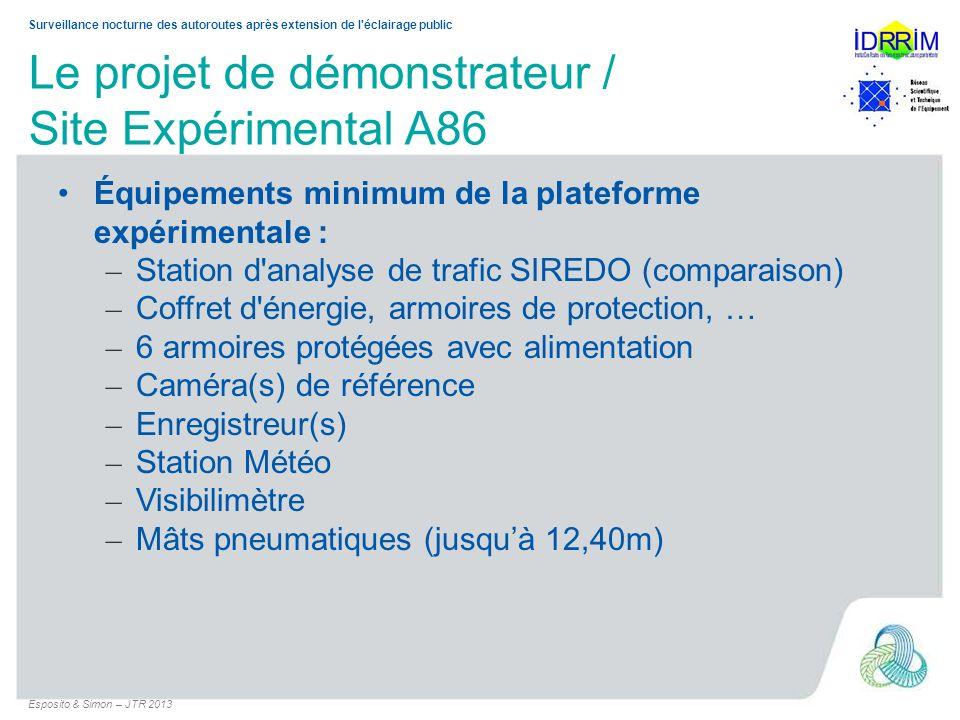 Le projet de démonstrateur / Site Expérimental A86